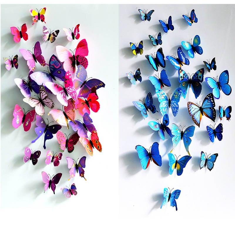 aimants papillon de refrigerateur 3d magnifique sticker mural pour rideau de table decoration de maison de salle de mariage fournitures de fete