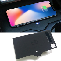 Car QI wireless charger fast charging case charging panel phone holder accessories for BMW X3 X4 G01 G02 2018 2019 for iPhone