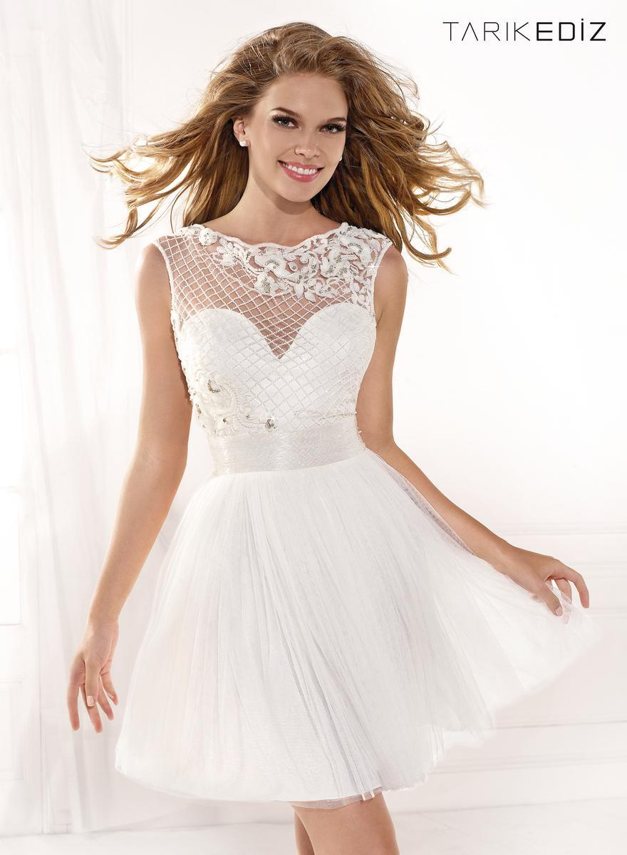 White Short prom dresses pictures