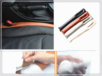 Car seat slot leakproof protection to avoid falling microfiber leather for Subaru Forester Ascent XV WRX VIZIV Outback image