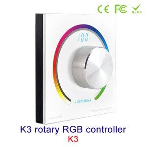 Image 2 - Новый CV RGB поворотный контроллер RGB панель контроллер RF настенное крепление беспроводной пульт дистанционного управления DC 12V 24V для 5050 3528 RGB светодиодная лента