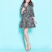 2016 Nuevas Señoras de La Manera Retro Hepburn Elegante Vestido OL Trajes de Corto cremallera de la Chaqueta Blazer + Mini Vestido Del Chaleco de Las Mujeres de Dos Piezas