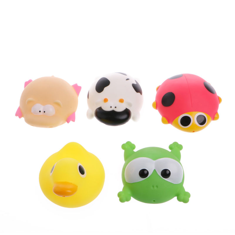 HBB Cute Animals Baby Kids Bath Play Toys Float Spray Water Swimming Pool Shower New