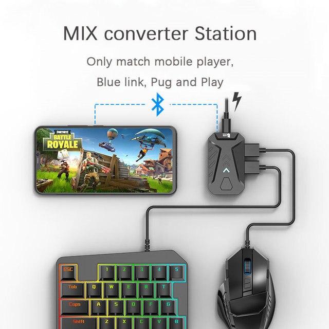 PUBG Convertitore Gioco DELLA MISCELA Tastiera Mouse Convertitore Bluetooth Stazione Stand Docking Station per iphone android Gamepad Joystick Controller