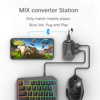 PUBG Game Converter MIX Keyboard Mouse Converter Bluetooth Station Stand Docking for iphone android Gamepad Joystick Controller