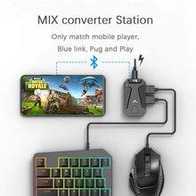 PUBG Spiel Konverter MIX Tastatur Maus Konverter Bluetooth Station Stehen Docking für iphone android Gamepad Joystick Controller