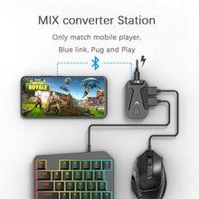 Pubg conversor de jogo mistura teclado mouse conversor estação bluetooth suporte docking para iphone android gamepad controlador joystick