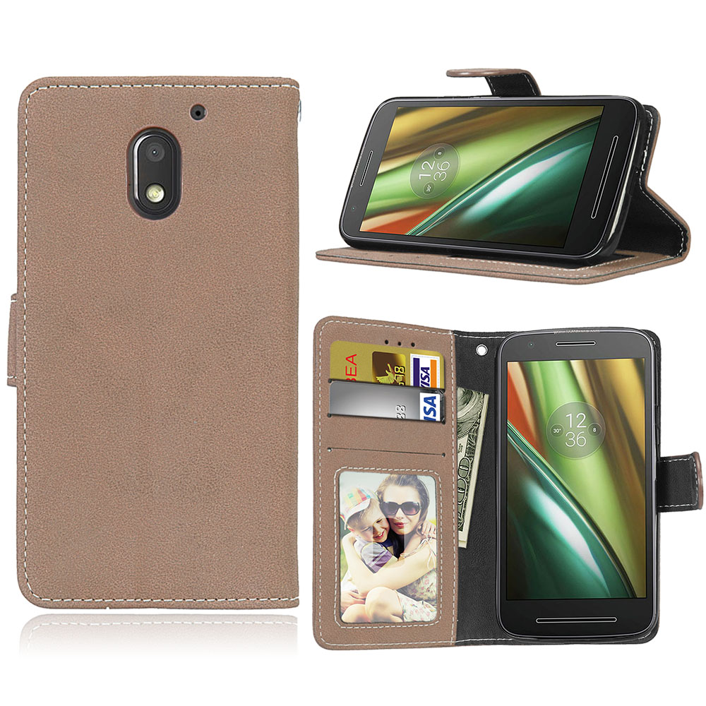 new products 5669d 081aa Pk Bazaar moto e for moto e3 matte case luxury pu leather back cover ...