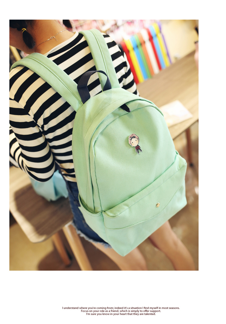 Pink Canvas Printing Backpacks Preppy Style School Bags For Teenager Girls Multifunction Travel Bag Backpack Mochila