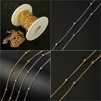 Metal Chain For Jewelry Making Diy Chain Necklace Bracelets Stainless Steel Twist Oval Chain 2.5x2x1mm Men Women Jewelry