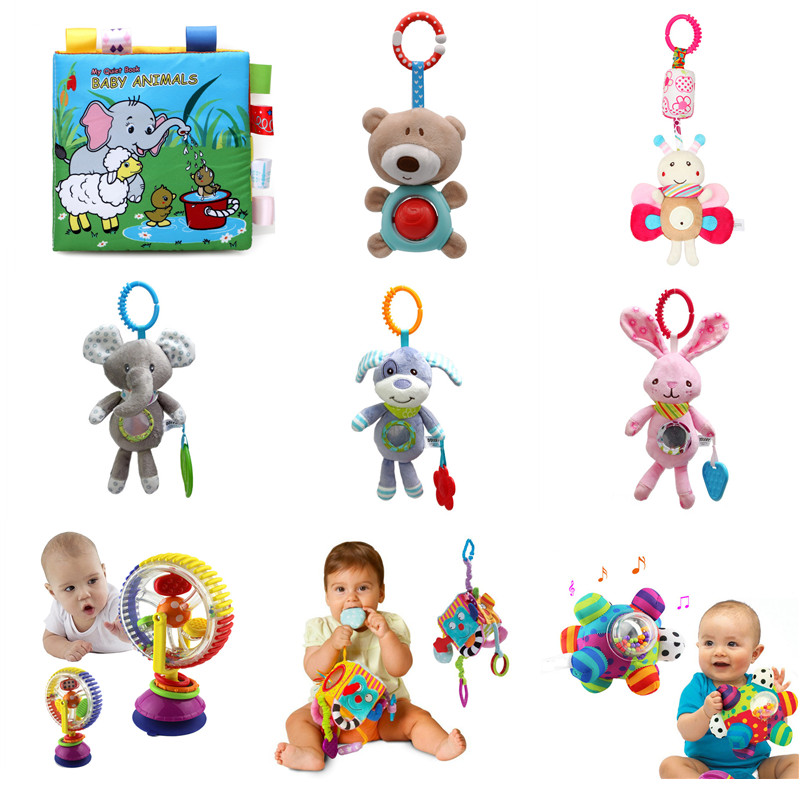 Newborn Baby Rattle Baby Bed Bell Toys For Stroller Educational Mobile Musical Rattle Toys For Baby Stroller Toys 0-12 Month