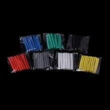 70 Pcs 7 Colors 3.0mm Heat Shrink Tube Retardant Polyolefins 2:1 Tubing Wrap Sleeve Kit