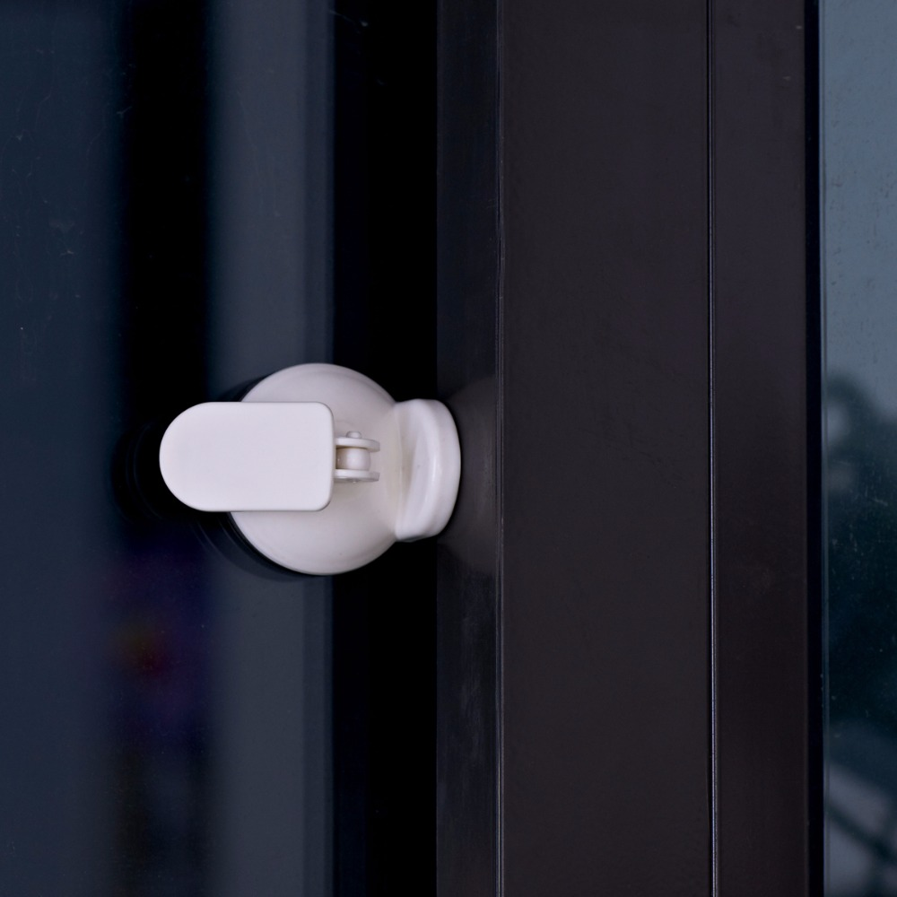 Reusable removable glass Strong Sucker Sliding Door Lock bathroom sliding door locks for Baby safety ...