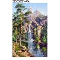 ZOOYA Wall Stickers Diamond Embroidery 3d DIY Diamonds Painting Cross Stitch 5d Landscape Tree Waterfall Home