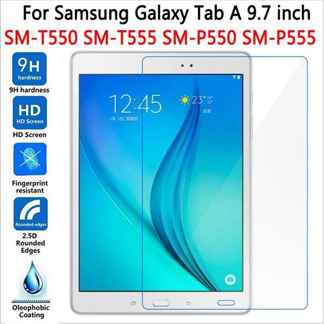 "HD Protector de pantalla para Samsung Galaxy Tab A 9,7 T550 T551 T555 vidrio templado para SM-T550 9,7 ""Tablet película Premium"