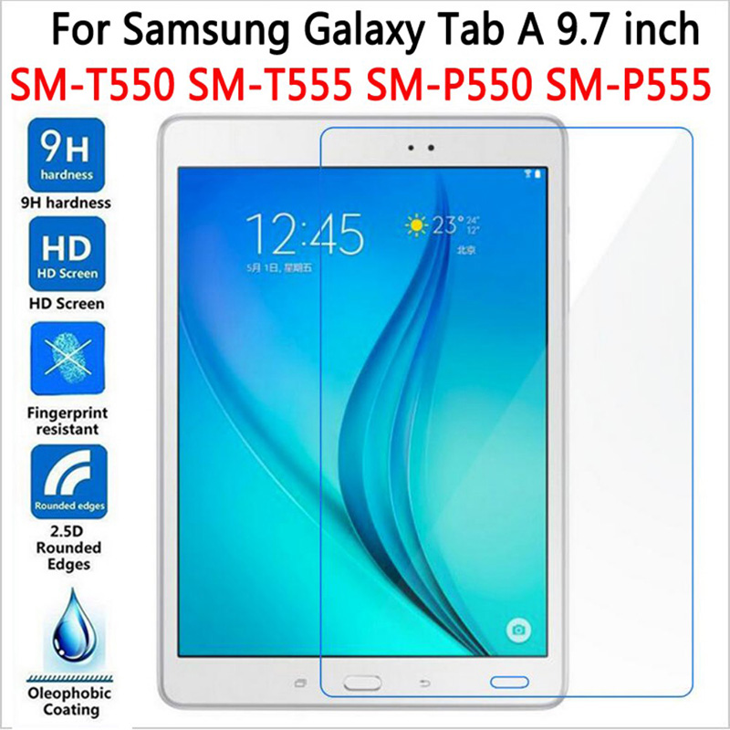 HD Screen Protector For Samsung Galaxy Tab A 9.7 T550 T551 T555 Tempered Glass For SM-T550 9.7 Tablet Protective Film Premium