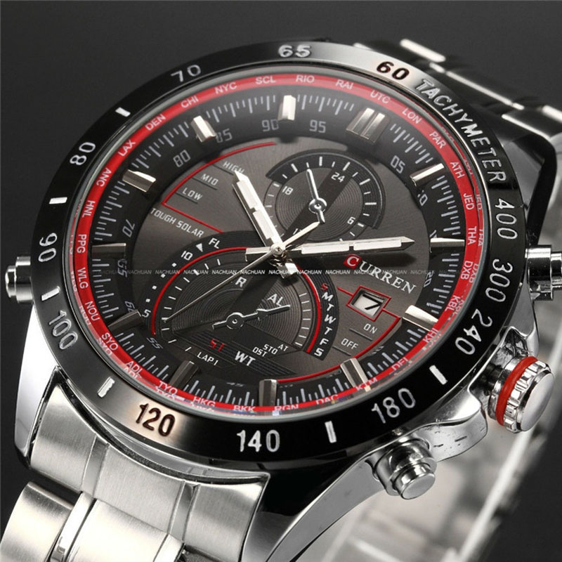 Curren Watch Mens Watches Top Brand Luxury Analog Display Stainless Steel Watches Men Quartz-Watch Male 8149 Montre Homme 2018 цена