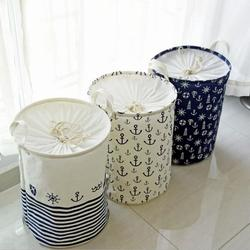New Zakka version cloth waterproof clothes basket dirty barrel folding clothes toys creative thickened storage laundry basket