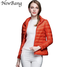 Multicolor Women Ultra Light Down Jacket Stand Collar Regular Portable Coats Women's Overcoat With Carry Bag Plus Customized