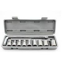 10pcs Lot Sockets Combination Bicycle Repair Tools Home Repair Kit Socket Wrench Set Manual Tools