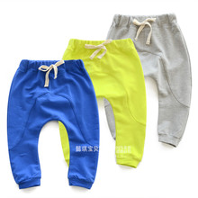 Children harem pants solid color baby boys and girls fashion  trousers 2016