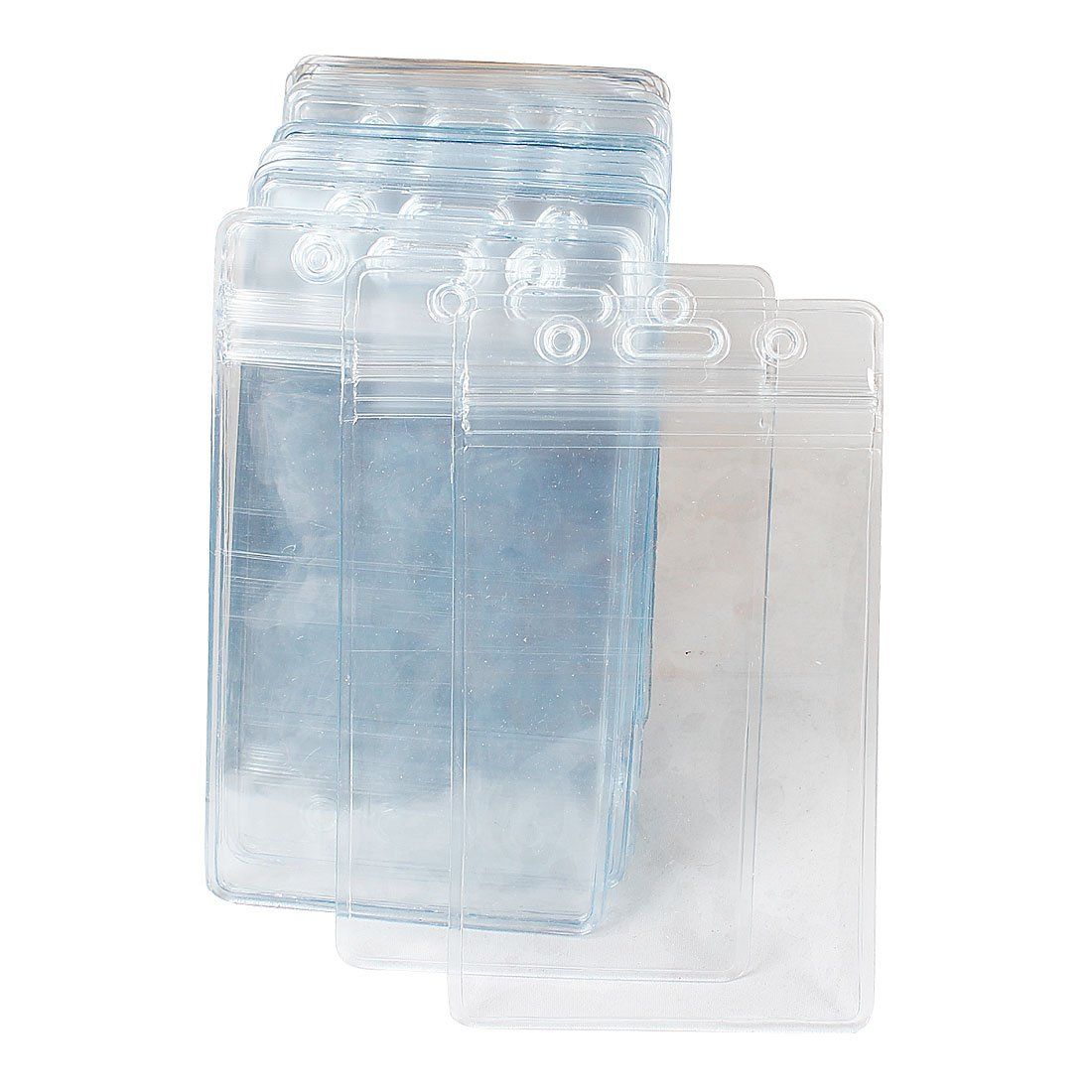SOSW-50 Pcs Clear Plastic Vertical Name Tag Badge ID Card Holders