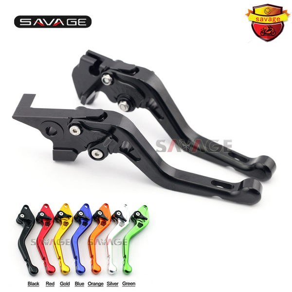ФОТО For YAMAHA FZS600 FAZER XJR 400/R XJR400 XJR400R Motorcycle Accessories CNC Aluminum Adjustable Short Brake Clutch Levers 7 colo