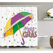 Vixm Mardi Gras Shower Curtain Parade Preparations Umbrella
