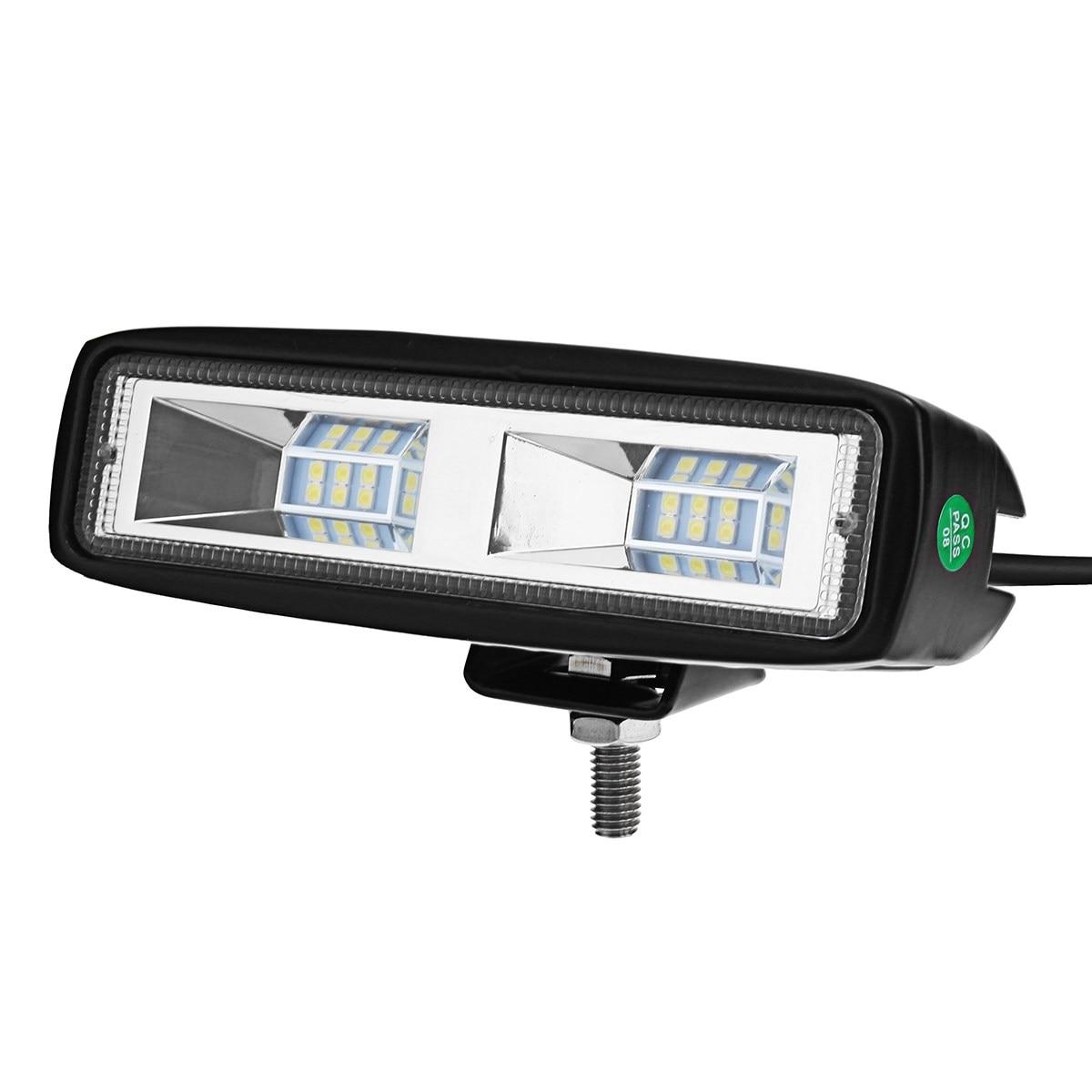 1pc 2pc 6 inch 60W 4800LM 20LED Work Light Flood Bar Lamp Flood Beam 4800LM IP68 For SUV ATV 12V