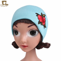 5pcs Lot Unisex Baby Winter Warm Knitted Beanies Boy Girl Stretchy Toddler Infant Kids Hats Rose