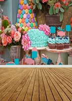 Customize washable wrinkle free flowers cakes photography backdrops for birthday party photo studio portrait backgrounds S 950