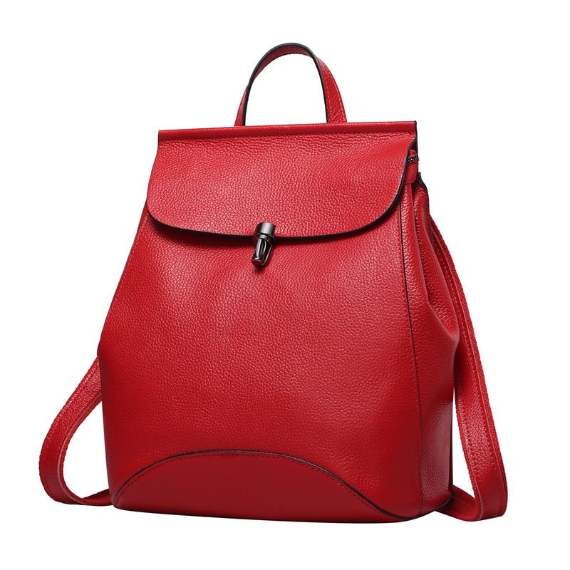 Nesitu New Design Fashion Red Blue Grey Black Purple 100% Guarantee Genuine Leather Small Women Backpacks Female For Girl #M0774