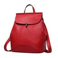 Nesitu New Design Fashion Red Blue Grey Black Purple 100 Guarantee Genuine Leather Small Women Backpacks