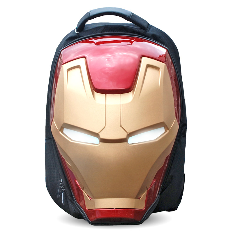 New Avengers Endgame Iron Man Cosplay Props The Avengers Eye LED Backpack Child Adult Zipper Knapsack Large Capacity Travel Bag