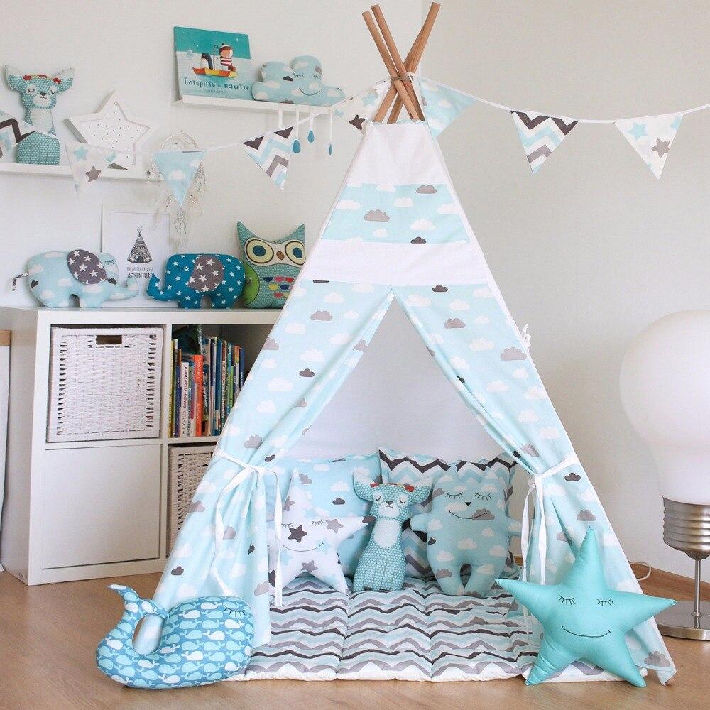 Двор ребенок палатка дом складной театр Типи детская палатка принц принцесса замок Крытый детский игровой дом подарок на день рождения