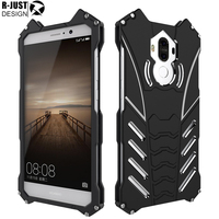 R JUST For Huawei Mate 9 Case Armor Metal Aluminum Heavy Duty Shockproof Stand Cover For