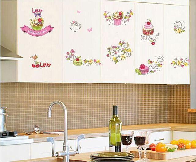 Camera Dei Bambini Fai Da Te : Torta del fumetto con amore fiore frutta fai da te adesivi murali