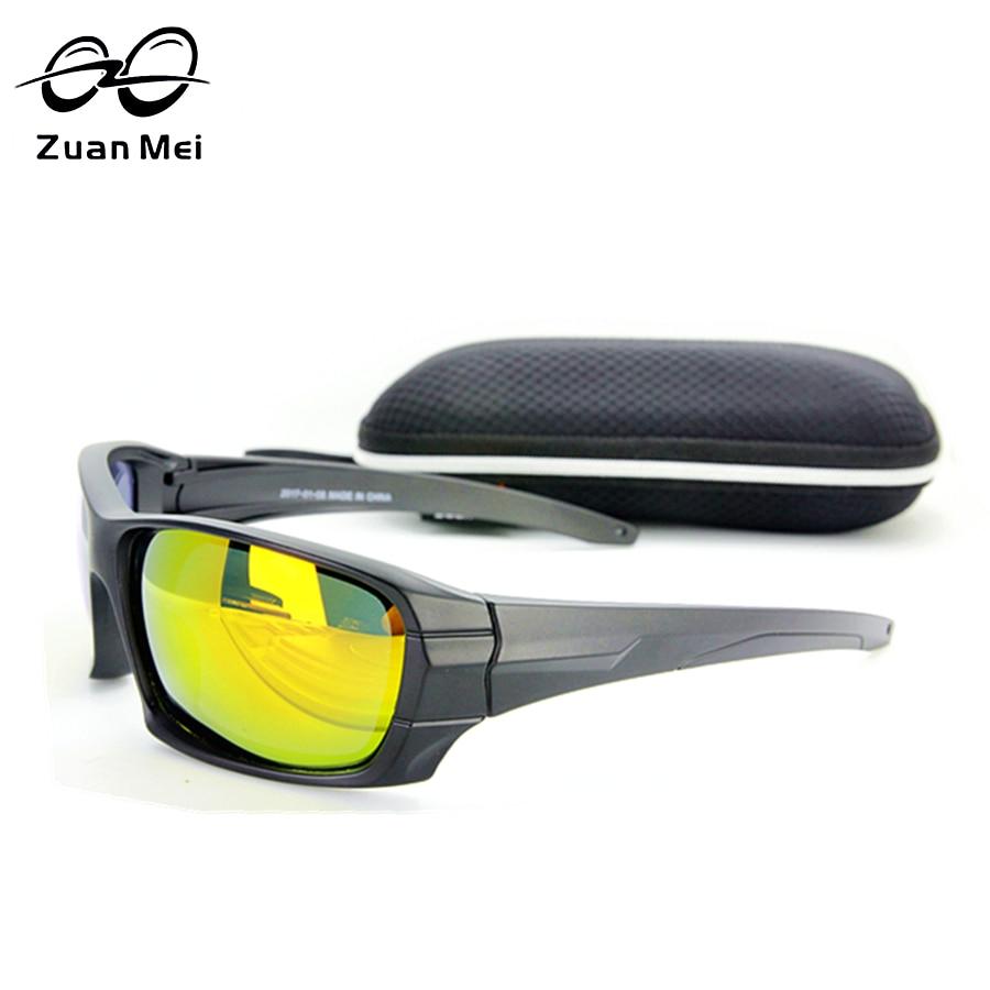 Zuan Mei Men's Polarized Sunglasses Tactical Polarized Army Goggles Tour Sun Glasses For Men Desert Storm War Game Glasses