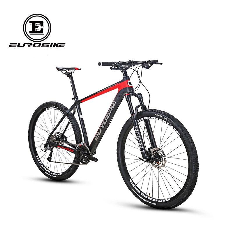EUROBIKE 29*18.5 pouces En Fiber De Carbone Ville Vélo de Montagne 27 vitesses 29 pouce Hydraulique de Roue De Frein Complet VTT Vélo