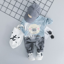 Toddler Baby Girl Clothes Set Long Sleeve Cartoon Hoodie with Pants Newborn Outfit