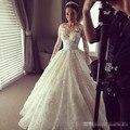 Lace wedding dress long sleeves wedding dresses ball gown dress bride casamento vestidos de noiva 2016 robe de mariage