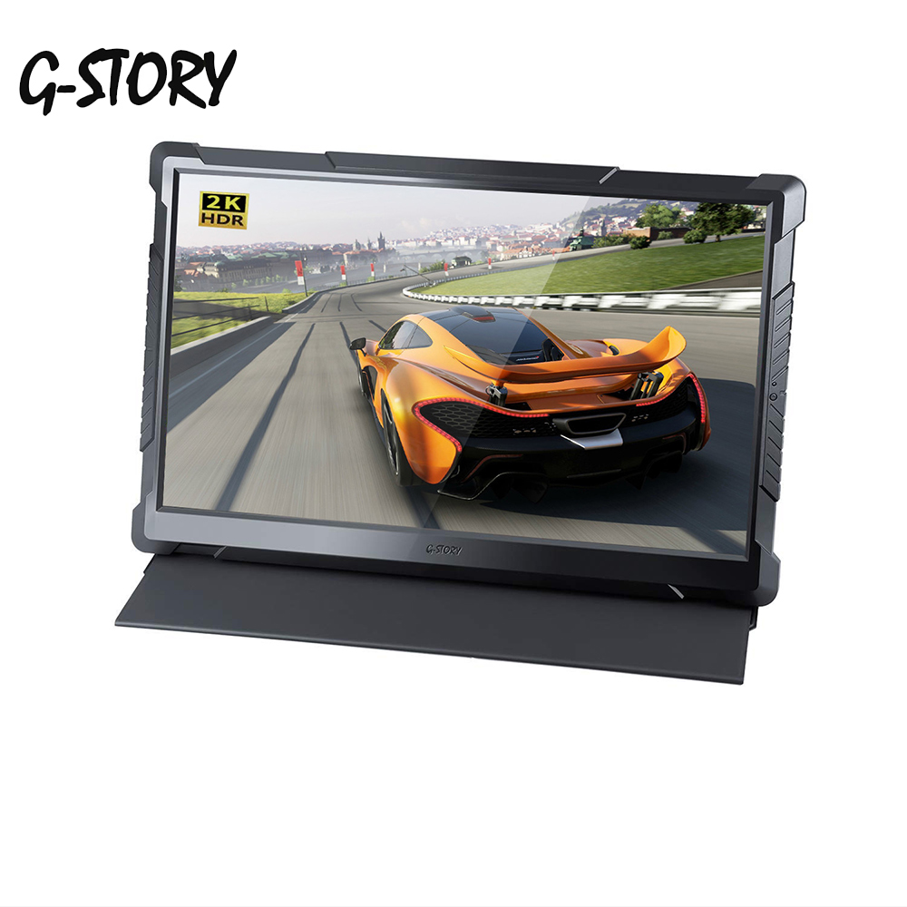 G-story 17.3 Inch 2k Portable Computer Monitor Pc Hdmi For Laptop,xbox,switch And Ps4 Portable Led Gaming Monitor Display