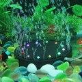 Aquário Bolha Colorida Submersível Luzes LED Luzes Da Noite Decorativos Lâmpada Bolha de Ar Pedra Disco Akvaryum Usado Com Bomba De Ar