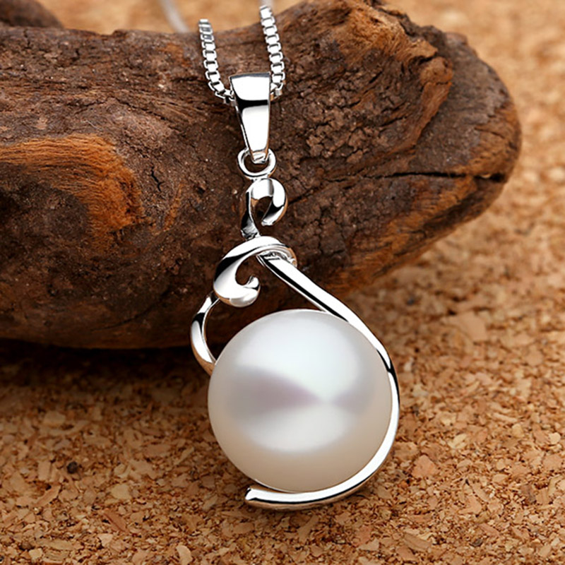 Sinya ægte perle vedhæng halskæde 925 sterling sølv charm til - Smykker - Foto 3