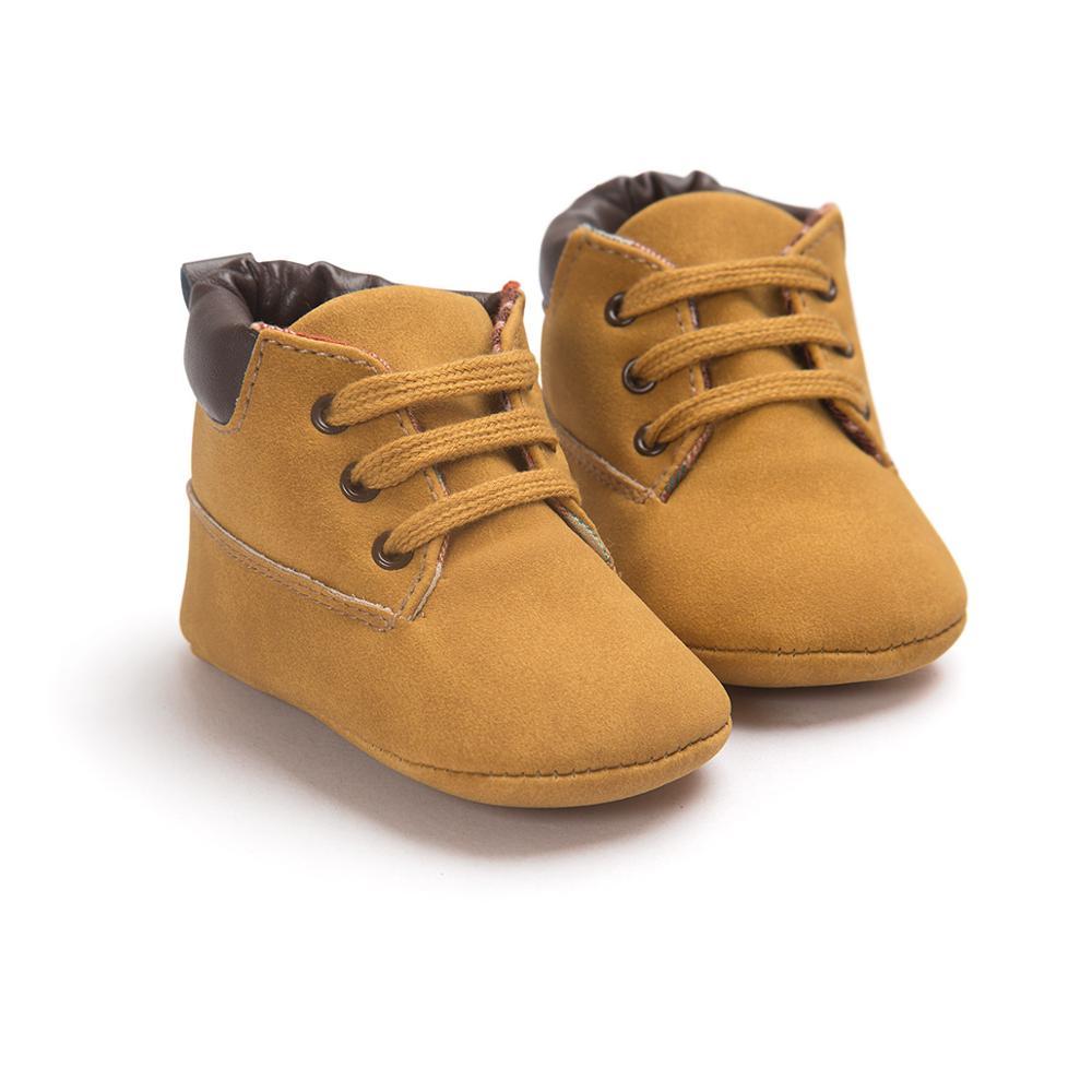 Mode martin bébé garçons chaussures en cuir décontracté sport casual baskets chaussures à lacets nouveau-né premiers marcheurs