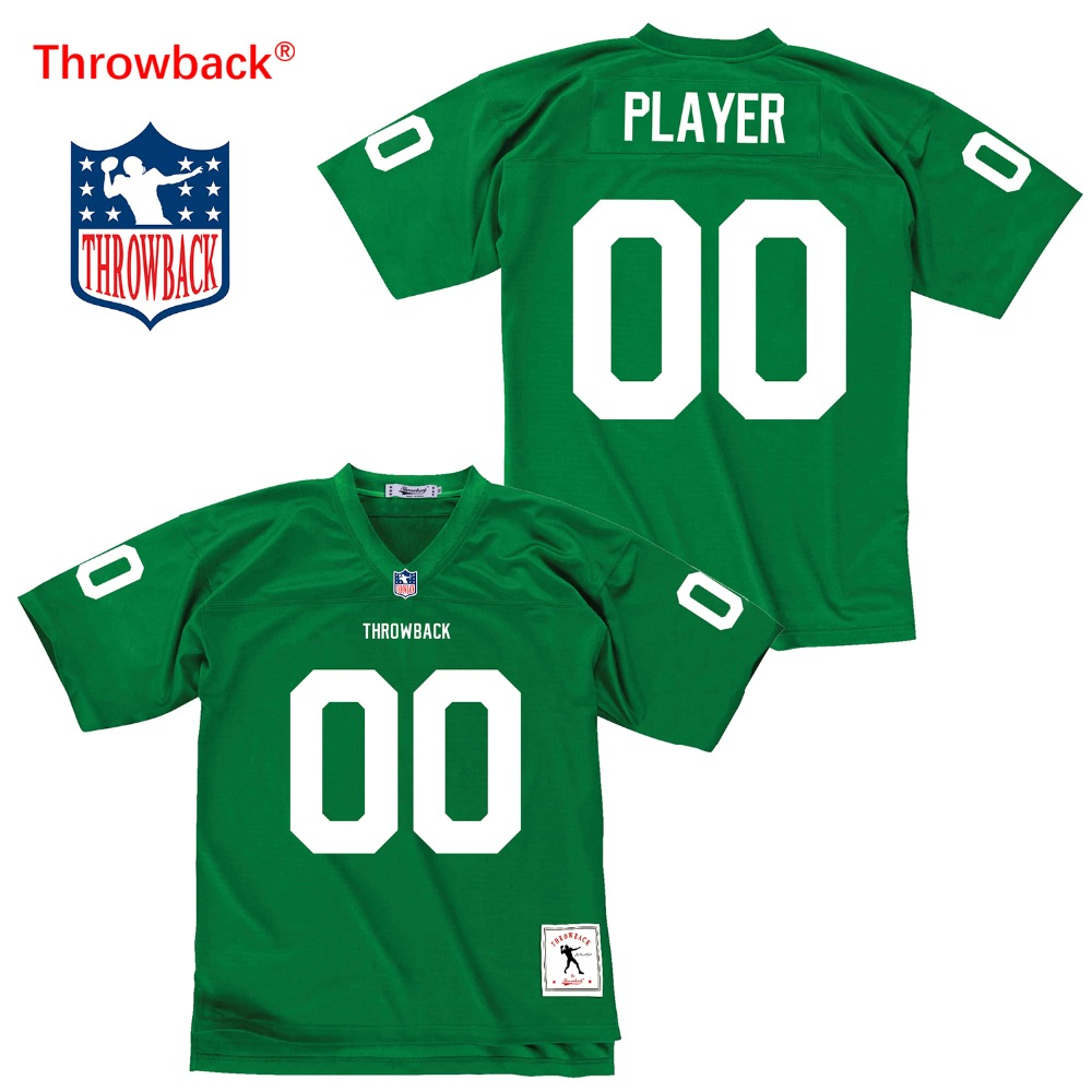 Throwback Jersey Men's Philadelphia American Football Jersey Customize Any Number Name Color Green Free Shipping Wholesale image