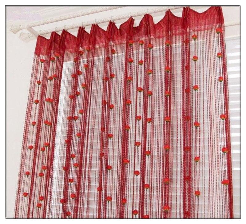 New Models Korean Style Rose Line Curtain Entrance