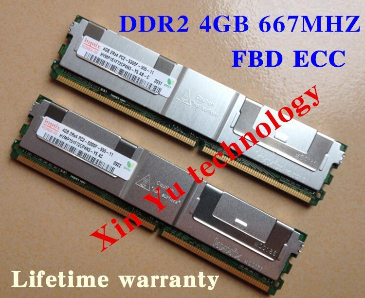 Pour Hynix 4 GB 8 GB 2 GB DDR2 667 MHz PC2-5300 2Rx4 ECC FBD Serveur mémoire FB-DIMM À RAM Vie garantie