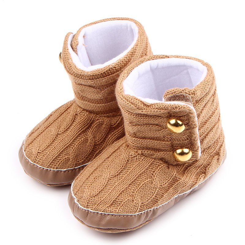 Fashion Winter Infant Toddler Baby Boys Girls First Walkers Baby Shoes Bootyborn Baby Crib Snow Knitted Shoes