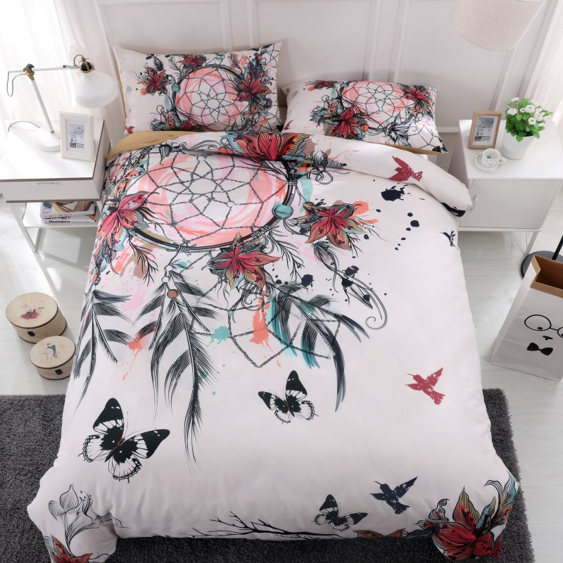 Fanaijia dream catcher Bedding Set King size Bohemian Print Duvet Cover set with pillowcase 3pcs AU